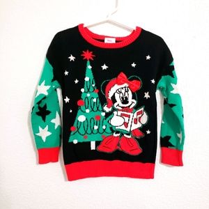 Disney Minnie Mouse Christmas Sweater Sz 3T